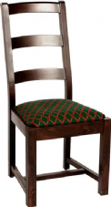 Senator Wooden Ladder Back Side Chair with Upholstered Seat